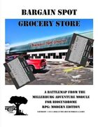 Bargain Spot Grocery Store Battle Map - A Grocery Store Overrun with Zombies