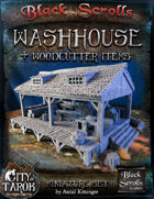 [3D] City of Tarok: Washhouse and woodcutter