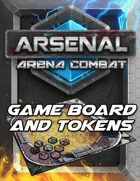 Arsenal: Arena Combat Gameboard & Tokens