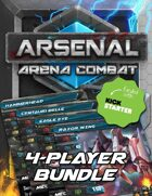 Arsenal: Arena Combat Four-Player Starter Kit [BUNDLE]