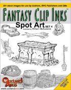 Fantasy Clip Inks:: Spot Art set 4
