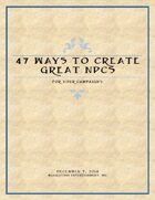47 Ways to Create Great NPCs for Your Campaigns