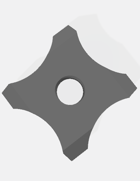 Game Tokens: Manji Shuriken/Ninja Throwing Star