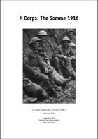 X Corps: The Somme 1916 v1.0 (US letter)
