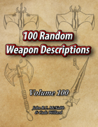 10,000 Random Weapon Descriptions [BUNDLE]