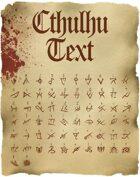 Cthulhu Text: TTF Font File