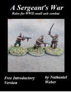 A Sergeant's War Free Intro Version