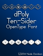 dPoly Ten-Sider OpenType Font