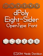dPoly Eight-Sider OpenType Font