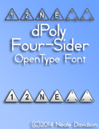dPoly Four-Sider OpenType Font
