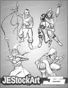 -JEStockPack- Fantasy - Male Adventurers 01