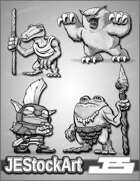 JeStockArt - Fantasy - Cute Miniature Common Dungeon Monsters - GNB