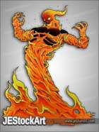 JEStockArt - Fantasy - Flame Elemental - CNB