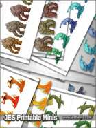 Printable Minis - Fantasy - Elemental Classics - PM