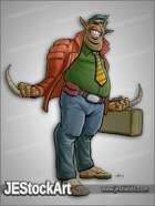 JEStockArt - SciFi - Cheesy Alien Salesman - CNB