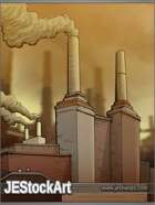 JEStockArt - Modern - Downtown Factory in Smog - CWB