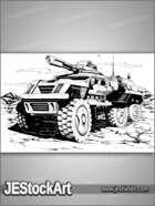 JEStockArt - SciFi - Six Wheeled Vehicle - HQIWB