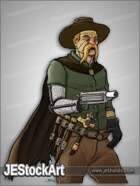 JEStockArt - Steampunk - Cybernetic Cowboy Monster Hunter - CNB