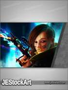 JEStockArt - SciFi - Female Shadow Punk - HQDP