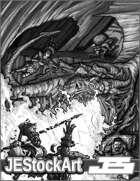 JEStockArt - Fantasy - Dragon Versus Adventurers - HQG