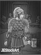 JEStockArt - Fantasy - Female Cleric in Vampire Den - GWB