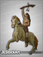 JEStockArt - History - Mohican Warrior with War Club - CNB