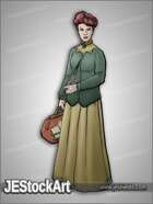 JEStockArt - History - News Reporter with Quill and Bag - CNB
