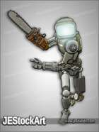 JEStockArt - Post Apocalypse - Cyborg made of Junkyard Parts - CNB