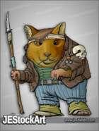 JEStockArt - Post Apocalypse - Hamster Tribesman with Military Jacket - CNB