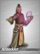 JEStockArt - SciFi - Oriental Diplomat with Holo Screen - CNB