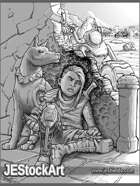 JEStockArt - Post Apocalypse - Young Child With Guerilla Tactics - GWB