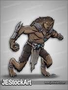 JEStockArt - Fantasy - Tribal Werewolf with Bone Armor - CNB