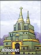 JEStockArt - Fantasy - Green Temple of the Seeing Eye - CWB