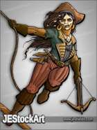 JEStockArt - Fantasy - Female Pirate with Skull Face Paint - CNB