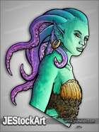 JEStockArt - Fantasy - Tentacled Mermaid Bust - HQCNB