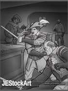 JEStockArt - Fantasy - Sword Duel In Tavern - GWB