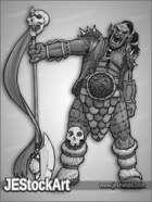 JEStockArt - Fantasy - Leaning Ogre With Polearm - GNB
