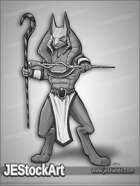 JEStockArt - Fantasy - Canine Egyptian Warrior - GNB