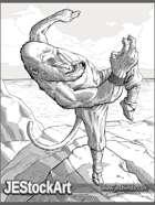 JEStockArt - Fantasy - Monkey Warrior on Mountaintop - LWB