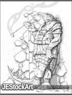 JEStockArt - Fantasy - Reptillian Thinker Relaxing - LWB