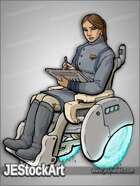 JEStockArt - SciFi - Young Female Agent in Wheelchair - CNB
