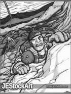 JEStockArt - Fantasy - Adventurer Climbing to Escape - GWB