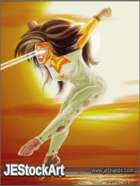 JEStockArt - Supers - Flying Woman with Super Vision - DP