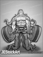 JEStockArt - Supers - Tentacled Power Lifter in Shorts - GNB