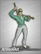 JEStockArt - Supers - Masked Man with Suit and Sword Cane - CNB