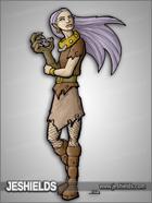 JEStockArt - Fantasy - Wolf Girl with Claws snd Wearing Collar - CNB