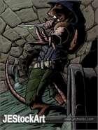 JEStockArt - Fantasy - WereRat with Poison Dagger in Sewer - CWB