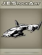 JEStockArt - SciFi - Dark Spacecraft Fighter - INB