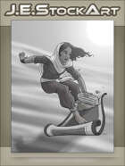 JEStockArt - Arabian Thief on Flying Carpet - GNB