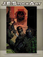 JEStockArt - Modern - Spy Team Infiltrates Base And Attacks With Garrote - CWB
